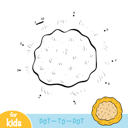 Numbers game, education dot to dot game for children, Pita bread Ilustração