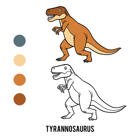 Coloring book for children, Tyrannosaurus