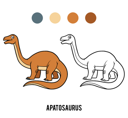 Coloring book for children, Apatosaurus