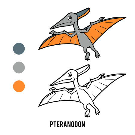 Coloring book for children, Pteranodon