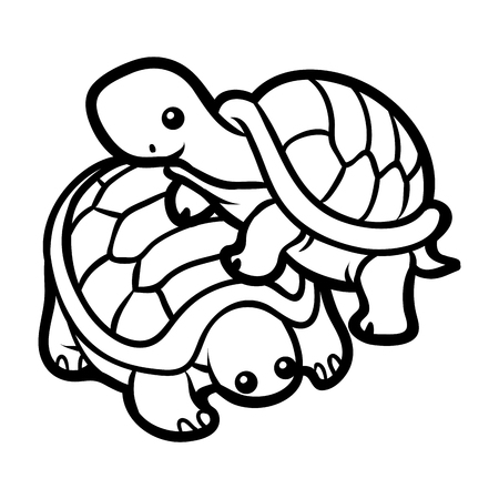 Coloring book for children, Two tortoises