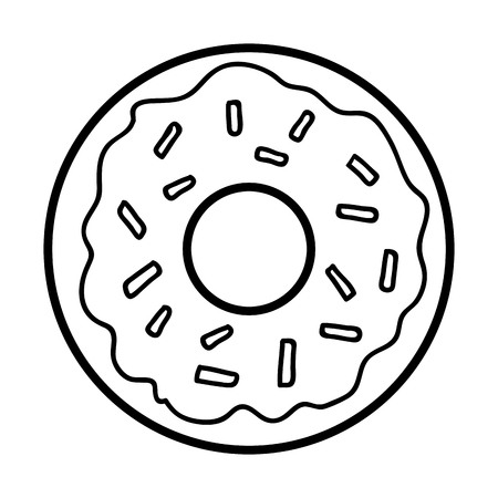 Coloring book for children, Donut Illustration