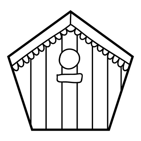 Coloring book for children, Birdhouse