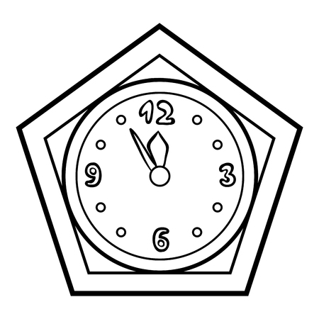Coloring book for children, Clock