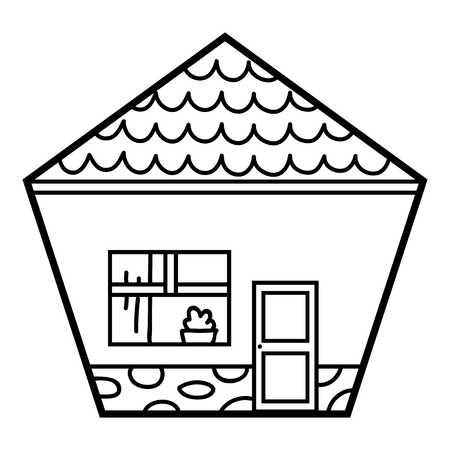 Coloring book for children, House