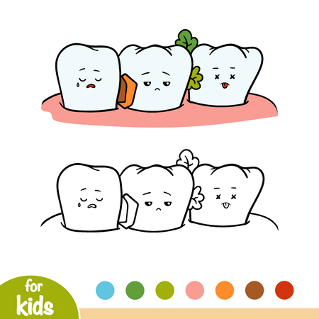Coloring book for children, Dirty tooth Illustration