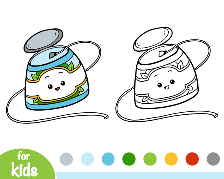 Coloring book for children, Dental floss