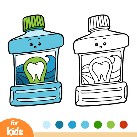 Coloring book for children, Mouth rinse