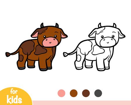 Coloring book for children, Bull Ilustracje wektorowe