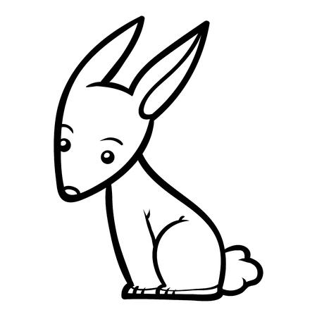 Coloring book for children, Rabbit Vector Illustration