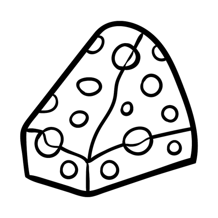 Coloring book for children, Cheese  イラスト・ベクター素材