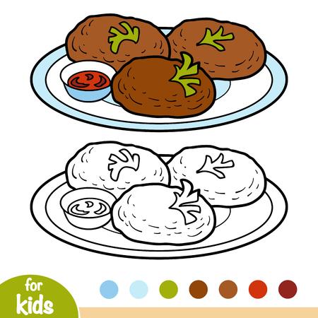 Malbuch für Kinder, Schnitzel