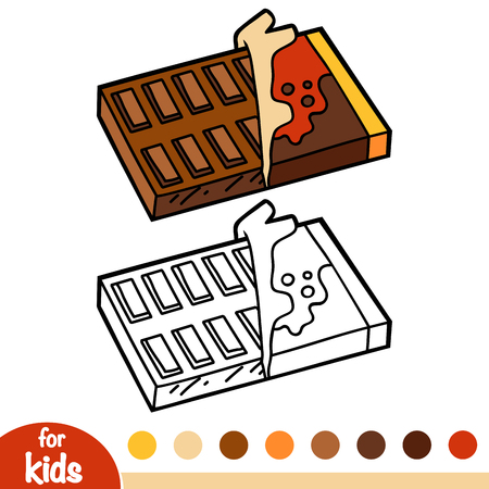 Coloring book for children, Chocolate bar