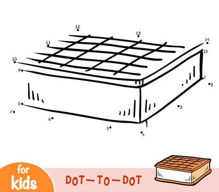 Numbers game, education dot to dot game for children, Ice cream Banque d'images - 124748834