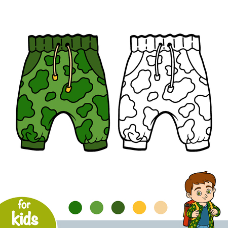 Coloring book for children, Mens khaki pants