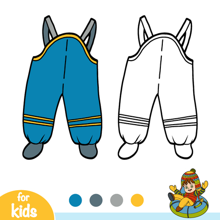 Coloring book for children, Waterproof kids dungarees