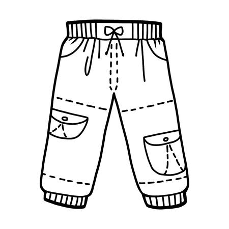 Kolorowanka dla dzieci, Spodnie cargo