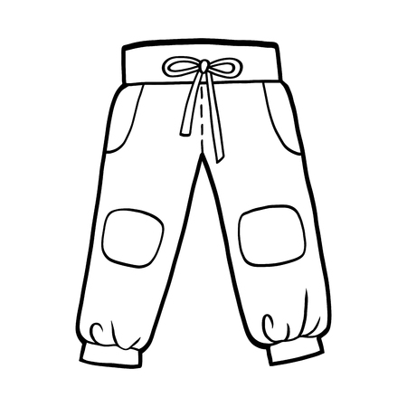 Coloring book for children, Sport pants