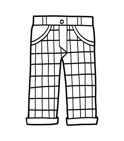 Coloring book for children, Trousers