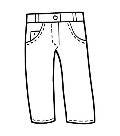 Kolorowanka dla dzieci, Jeans Ilustracje wektorowe