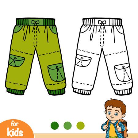 Coloring book for children, Cargo trousers Ilustração