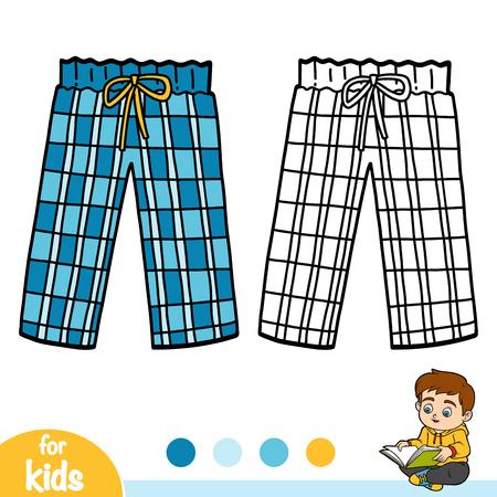 Kolorowanka dla dzieci, spodnie od piżamy