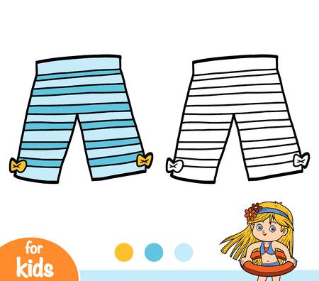 Coloring book for children, Cropped leggings Ilustração