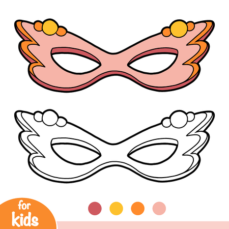 Coloring book for children, Carnival mask