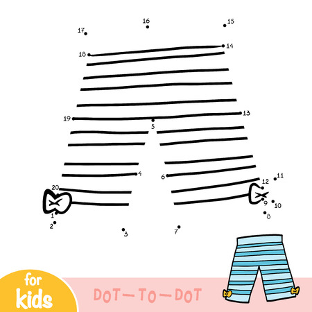 Numbers game, education dot to dot game for children, Cropped leggings