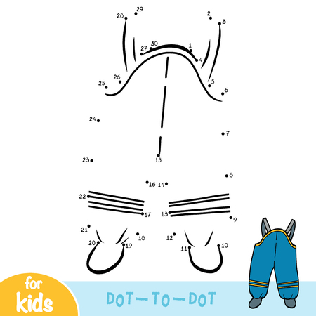 Numbers game, education dot to dot game for children, Waterproof kids dungarees
