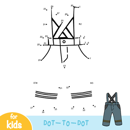 Numbers game, education dot to dot game for children, Waterproof pants