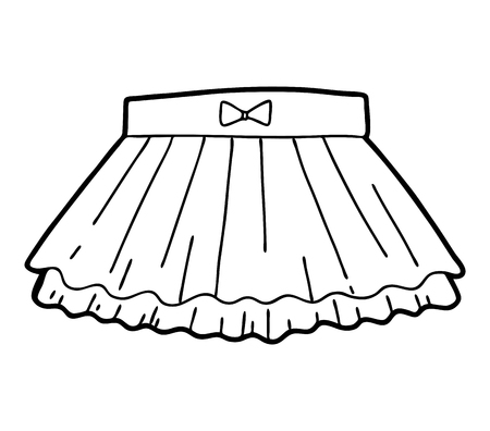 Coloring book for children, Ruffled skirt