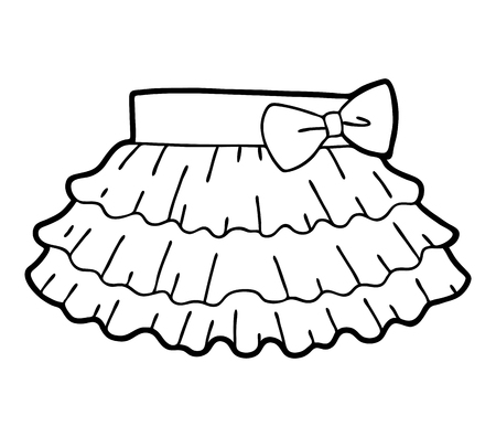 Coloring book for children, Ruffled skirt