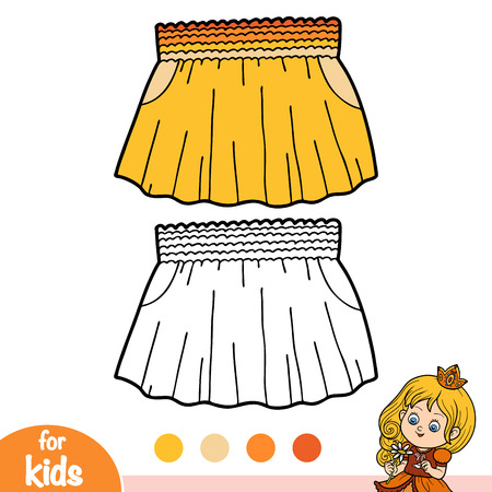 Coloring book for children, Skirt