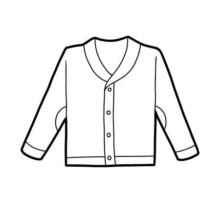 Coloring book for children, Elbow-patch sweater