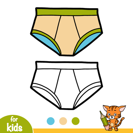 Coloring book for children, Pants
