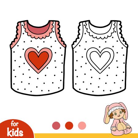 Coloring book for children, Vest with a heart
