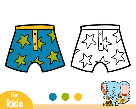 Coloring book for children, Pants with stars