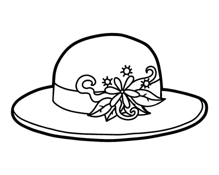 Coloring book for children, cartoon headwear,  Flower straw hat