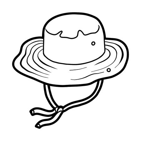 Coloring book for children, cartoon headwear,  Bucket fisherman hat