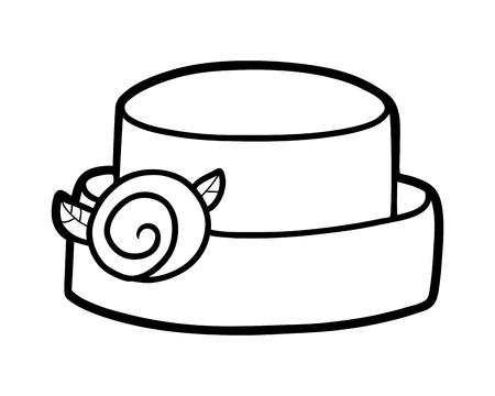 Coloring book for children, cartoon headwear, Bumper brim hat