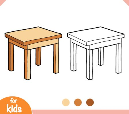 Coloring book for children, Table