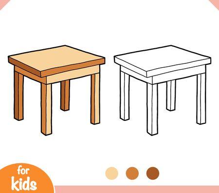 Libro da colorare per bambini, Tavolo Vettoriali