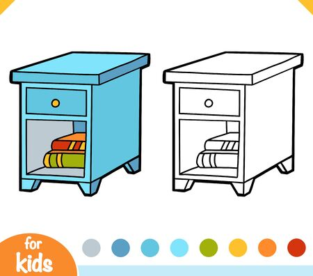 Coloring book for children, Nightstand
