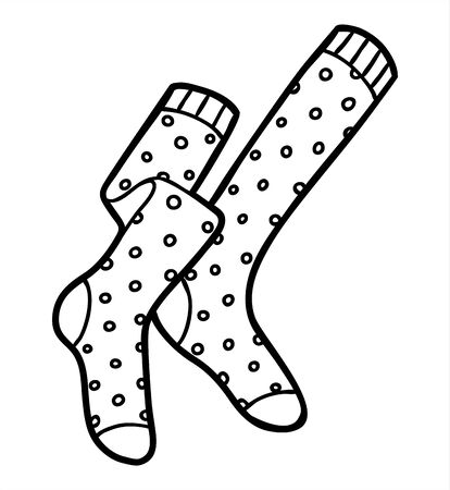 Coloring book for children, Knee socks Ilustração
