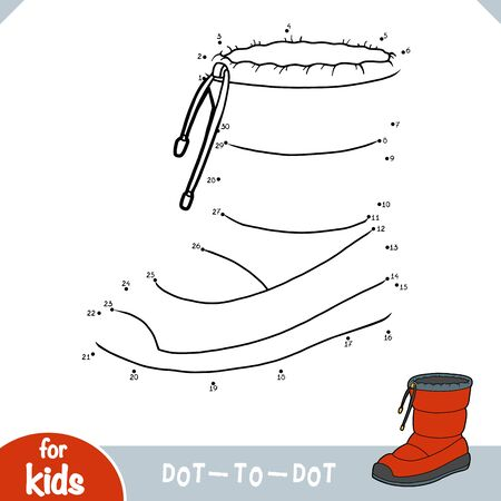 Numbers game, education dot to dot game for children, Waterproof snow boots