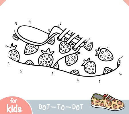 Numbers game, education dot to dot game for children, Plimsolls