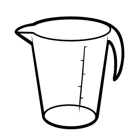 Coloring book for children, Measuring cup Stock Illustratie