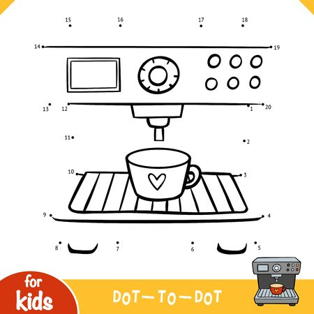 Numbers game, education dot to dot game for children, Espresso Coffee Machine
