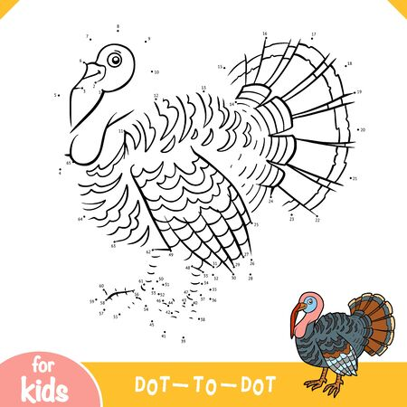 Numbers game, education dot to dot game for children, Turkey